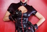 Free porn pics of Blonde girl with black latex nurse dress 1 of 10 pics