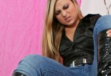 Free porn pics of Katja, frech und dominant (jeans, boots, face) 1 of 12 pics