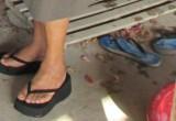 Free porn pics of black platform flip flops 1 of 6 pics