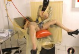 Free porn pics of RubberClinic Buttplug Lesbians 1 of 37 pics