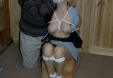 Free porn pics of Hanka bound in a skirt 1 of 64 pics