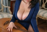 Free porn pics of Naturally Busty Luna Plays Her Sensual Musical Ballet 1 of 65 pics