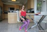 Free porn pics of Purple Hose - Angel Smalls, Hot Glasses 1 of 75 pics