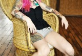 Free porn pics of Pink Haired Goth Girl 1 of 54 pics