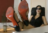 Free porn pics of Stiletto Sandals On The Desk 1 of 49 pics