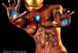 Free porn pics of Iron Man Female Body Paint/Art Superhero 1 of 7 pics