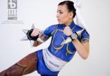 Free porn pics of Chun Li Street Fighter Cosplay Body Art Paint 1 of 39 pics