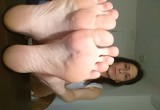 Free porn pics of My filthy whore milf feet 1 of 6 pics